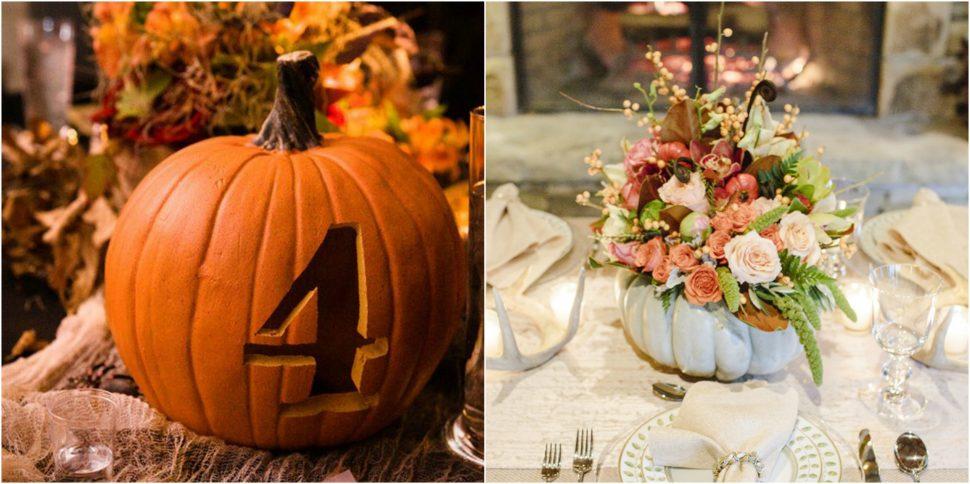 Decoración calabazas bodas Halloween