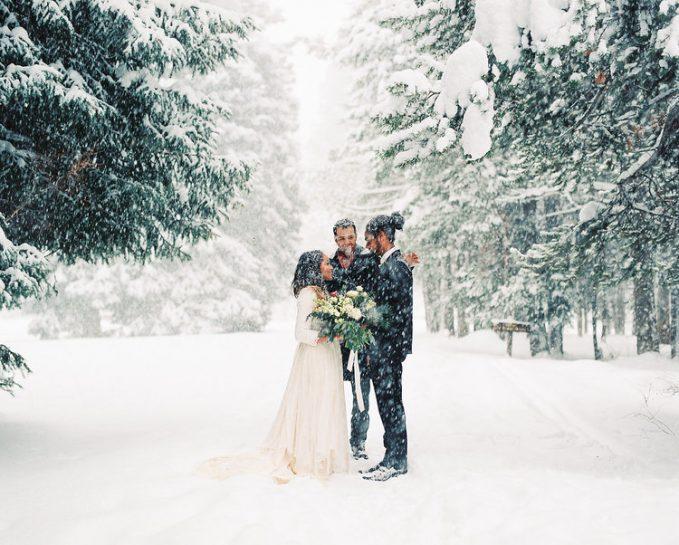 fotografía invierno boda
